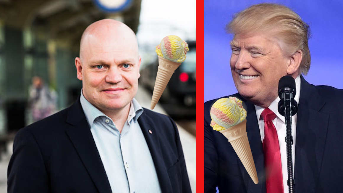 "GLASSKRIGET FORTSÄTTER PÅ TWITTER – ""TRUMPMETODER"""