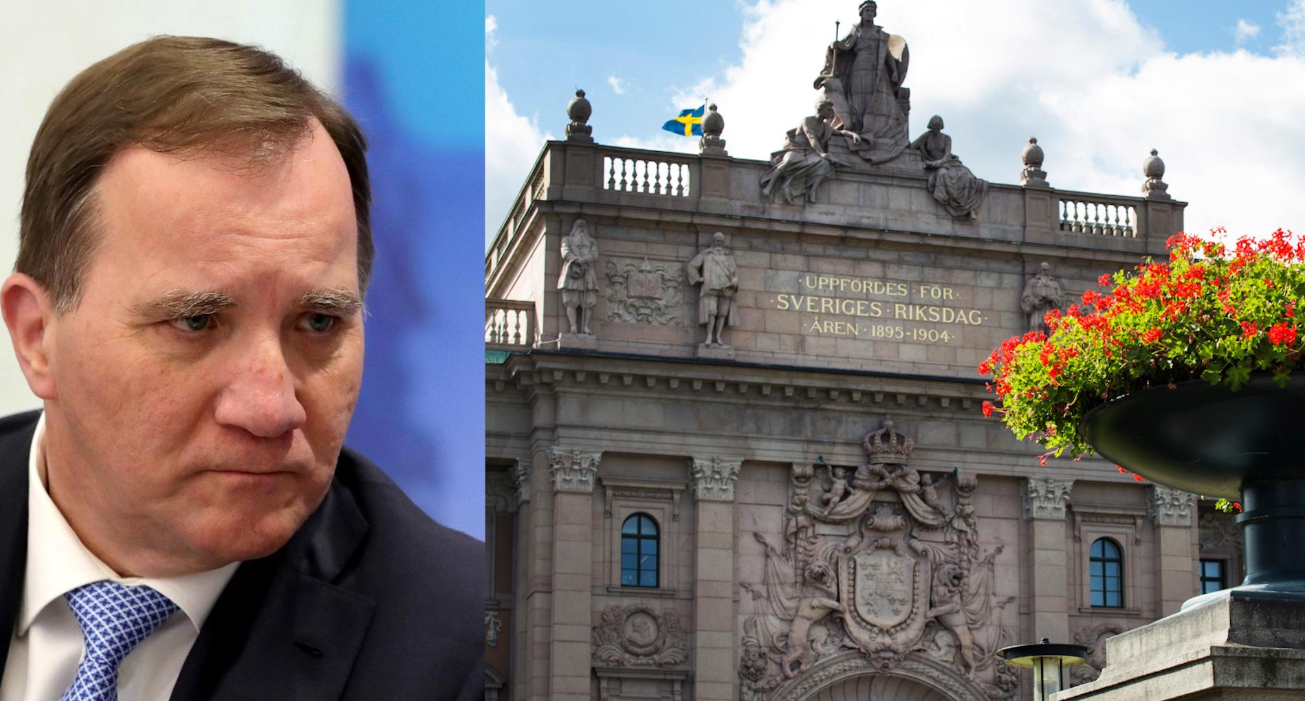 Stefan Löfven bortröstad av riksdagen
