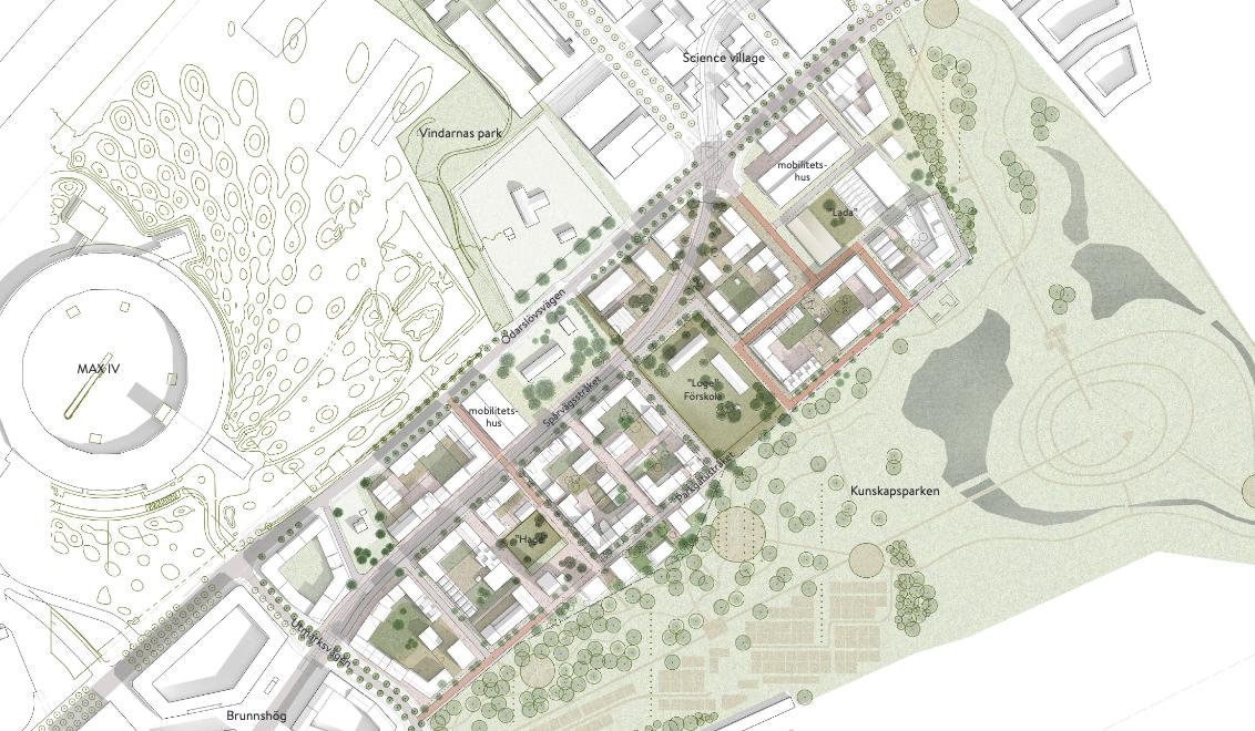 Ny stadsdel på Brunnshög skickas ut på samråd